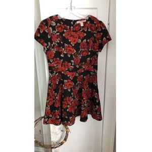 Forever 21 rose dress with zip back